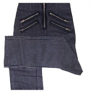 Pin Stripe Straight Leg Pants